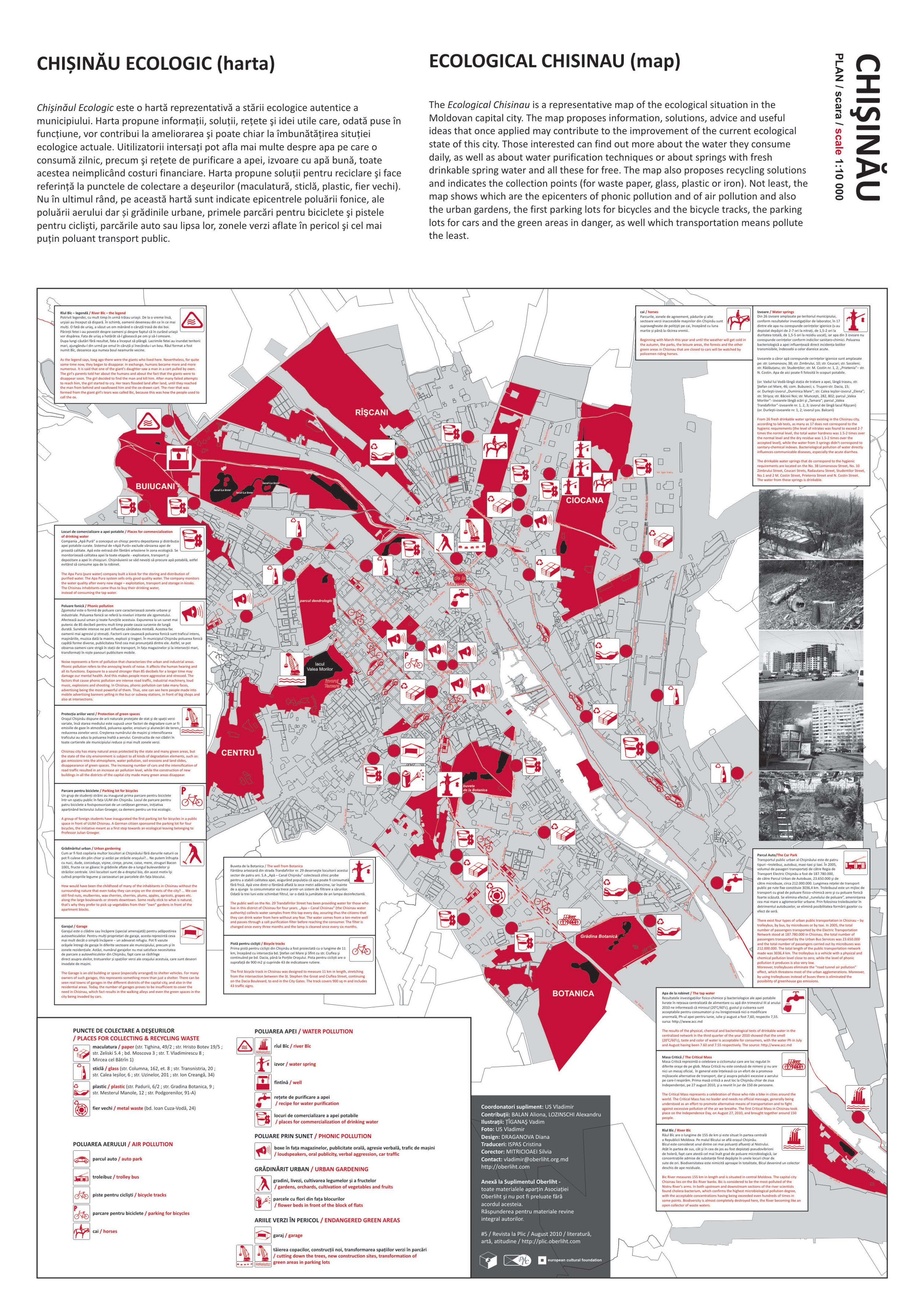 Harta Chișinăului Ecologic Map Chișineu